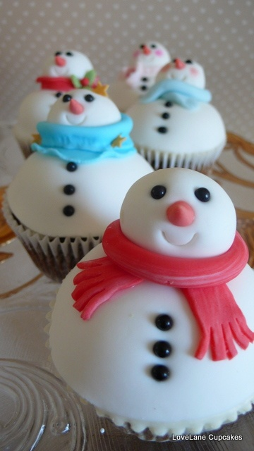 Snowman Cupcakes - Everything 4 Christmas
