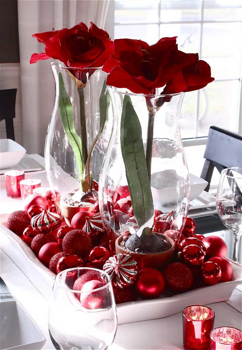 Christmas centerpiece ideas everything 4 christmas for Home made christmas table decorations