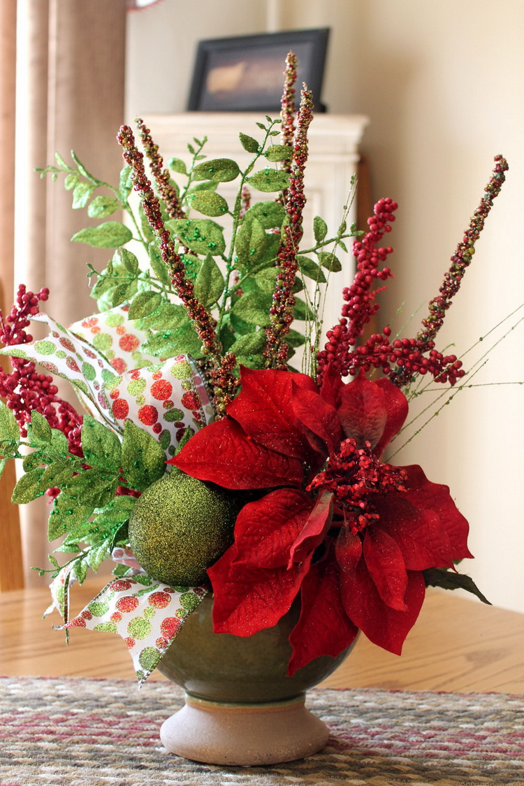 Red Holiday Centerpiece : Christmas centerpiece ideas everything